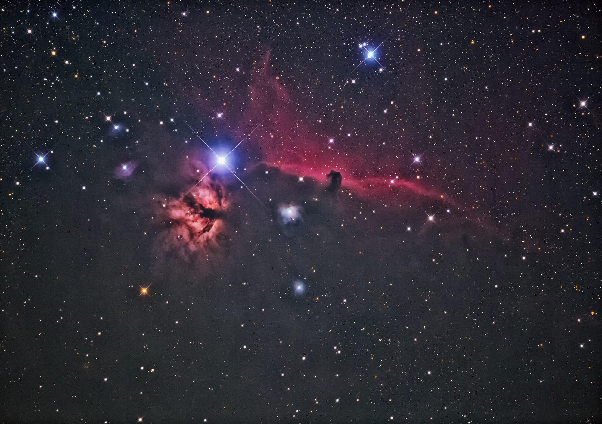 11月30日のバラ星雲.馬頭星雲再処理_e0174091_21275422.jpg