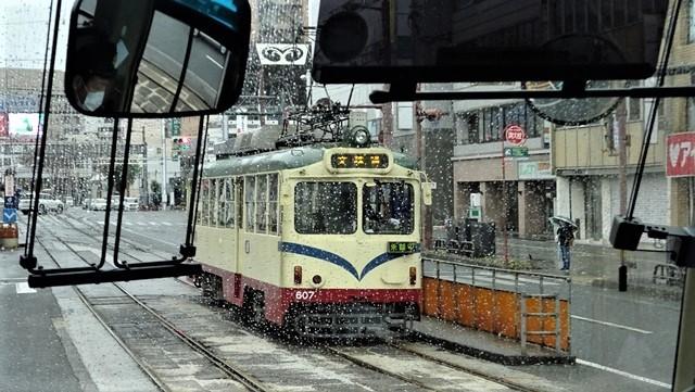 藤田八束の鉄道写真@高知の路面電車、日本最古の路面電車高知を走る、高知の路面電車は走行距離も日本一、とさでん交通・土佐電鉄_d0181492_23505669.jpg