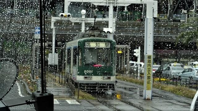 藤田八束の鉄道写真@高知の路面電車、日本最古の路面電車高知を走る、高知の路面電車は走行距離も日本一、とさでん交通・土佐電鉄_d0181492_23515546.jpg