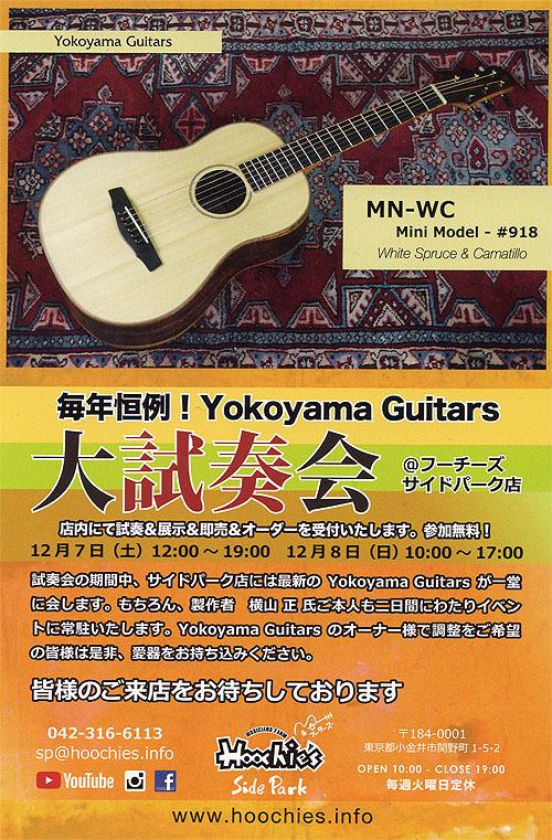 行ってきました! Yokoyama Guitars 「大試奏会」 2019_c0137404_21362068.jpg