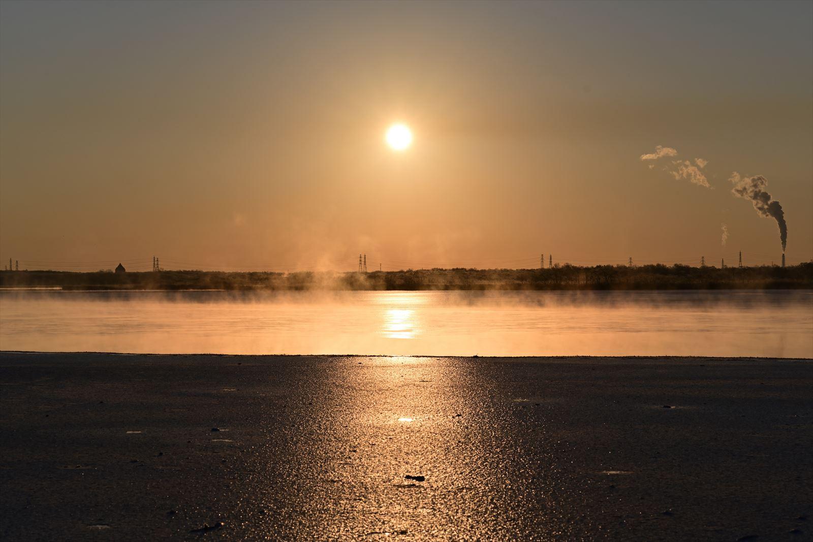 ウトナイ湖の気嵐_a0145819_13542895.jpg