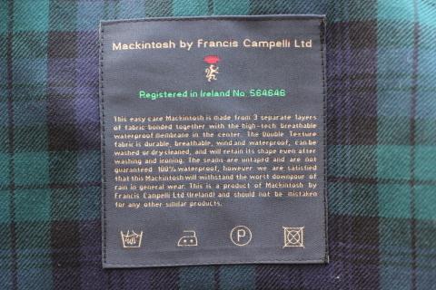 """世界一のシングルコート「Mackintosh by Francis Campelli」 \""""SINGLE BRESTED COAT\"""" ご紹介_f0191324_08121439.jpg"""