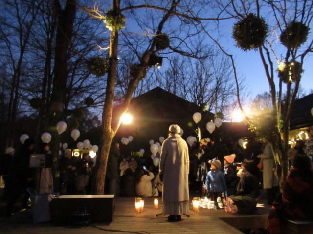 「幸せが灯る街」ハルニレテラスのクリスマス * 幸せのやどりぎ点灯式♪_f0236260_00124625.jpg