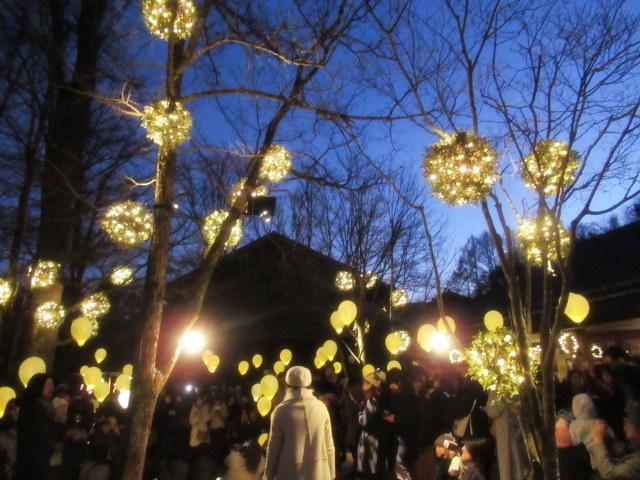「幸せが灯る街」ハルニレテラスのクリスマス * 幸せのやどりぎ点灯式♪_f0236260_00140713.jpg