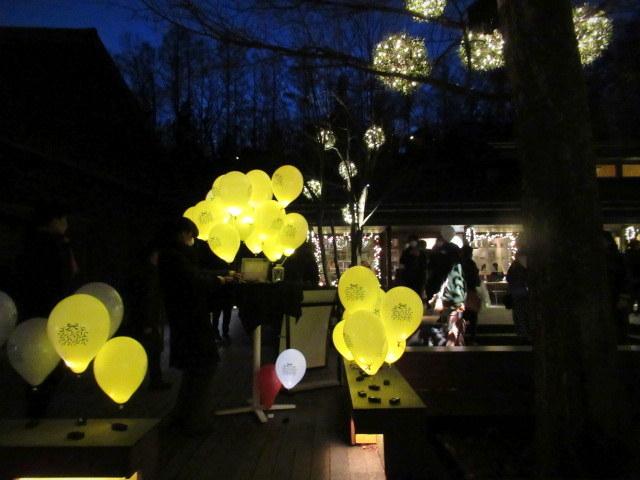 「幸せが灯る街」ハルニレテラスのクリスマス * 幸せのやどりぎ点灯式♪_f0236260_00285582.jpg
