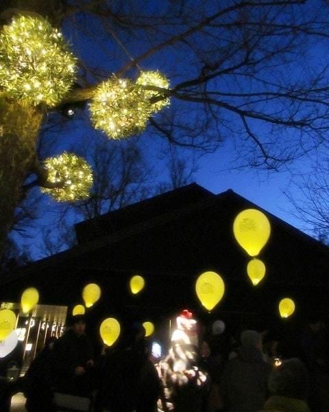 「幸せが灯る街」ハルニレテラスのクリスマス * 幸せのやどりぎ点灯式♪_f0236260_03470477.jpg