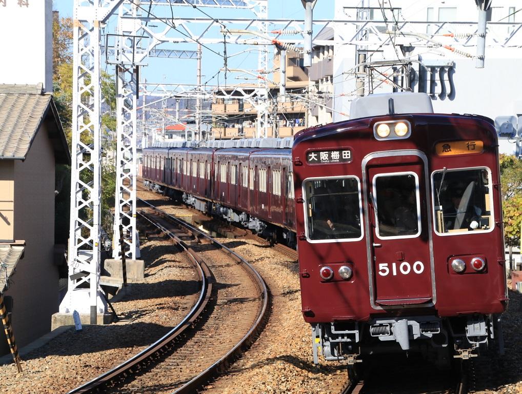 阪急5100系 5100F 大阪梅田表示幕_d0202264_12305384.jpg