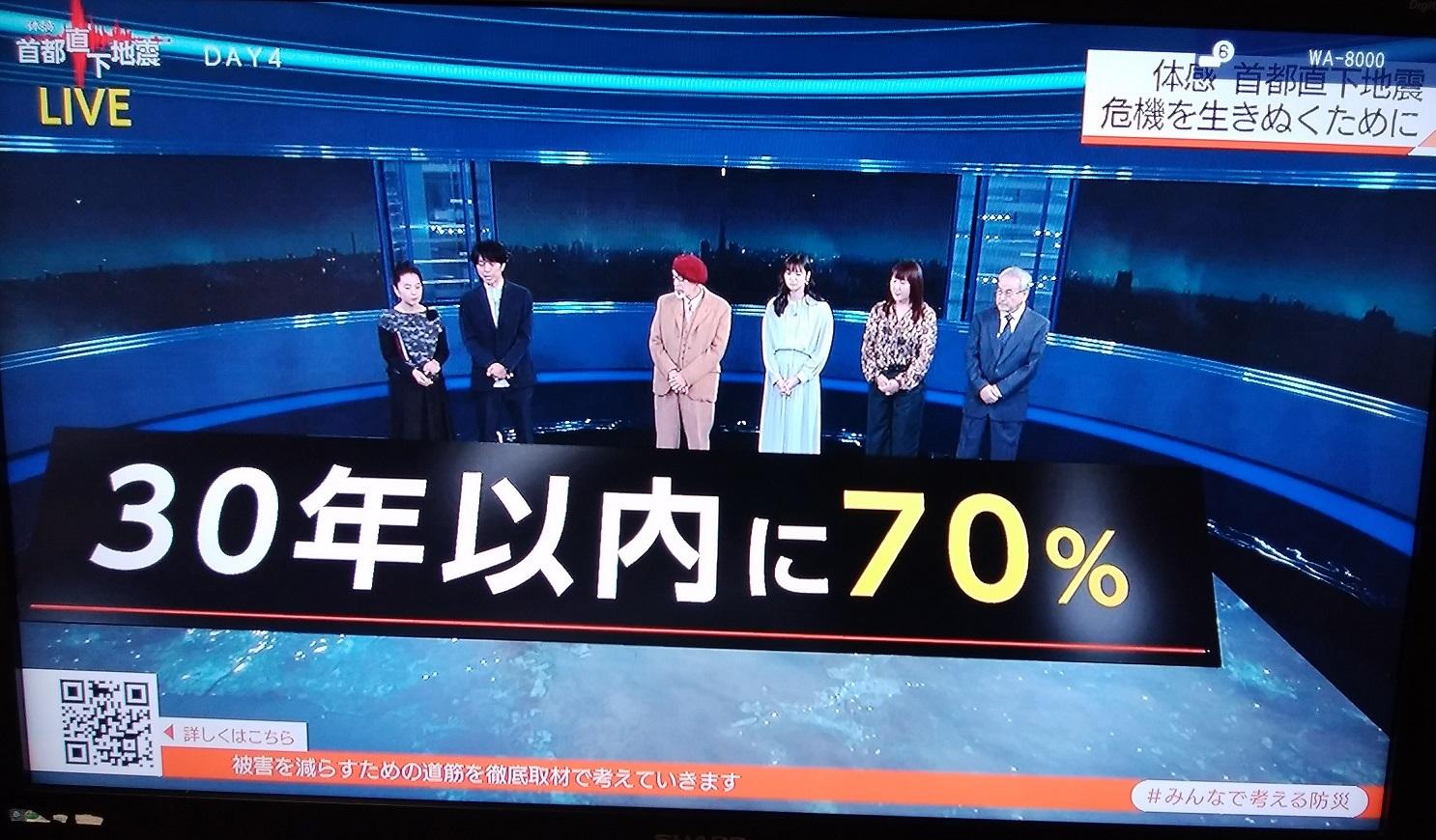 『アパレル東京』~NHK特集・首都直下地震~_a0107574_19294700.jpg