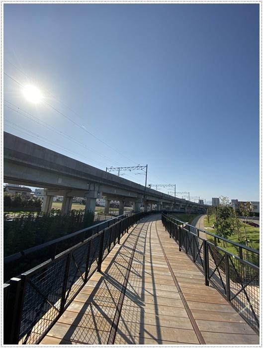 日差しがとっても暖かかったから、新しくできた公園でお散歩だよ~_b0175688_20073898.jpg
