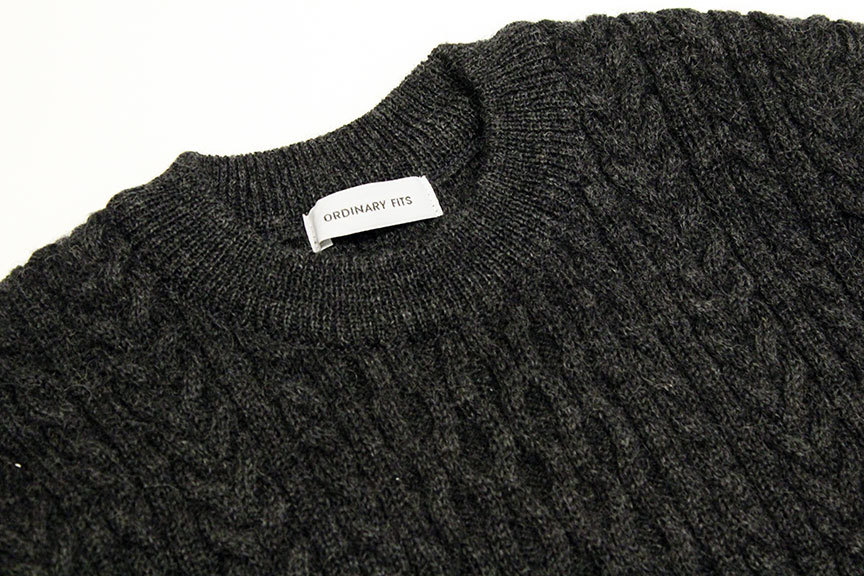 """Ordinary fits (オーディナリーフィッツ) \"""" CABLE KNIT \""""_b0122806_12404616.jpg"""