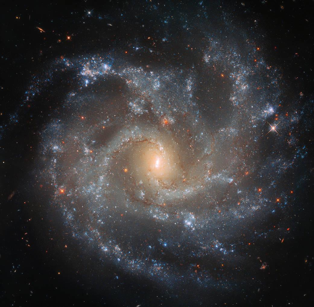 ハッブル宇宙望遠鏡が捉えたおとめ座の渦巻銀河NGC5468の最新画像 ...