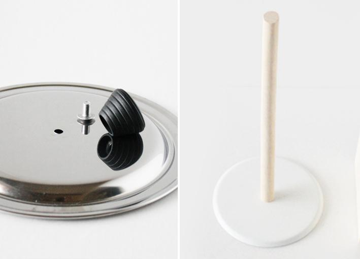 鍋の蓋で簡単DIY☆ヴィンテージライクな「スタンドプレート」_d0351435_05534709.jpg