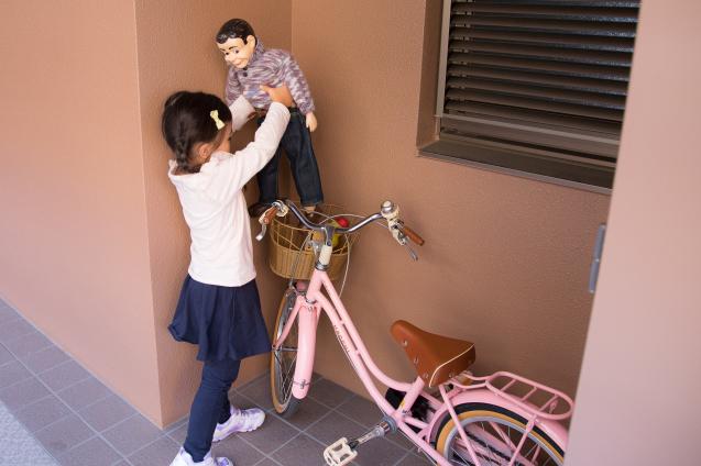"""ゆいちゃんとサラちゃん:その4 """"自転車にのって""""_e0369736_17430661.jpg"""