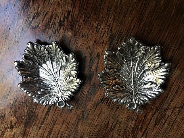 シルバー木の葉の小プレート167_f0112550_06120493.jpg