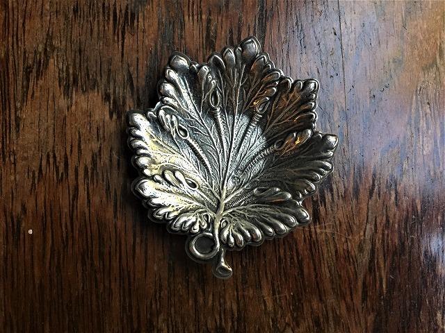 シルバー木の葉の小プレート167_f0112550_06120599.jpg