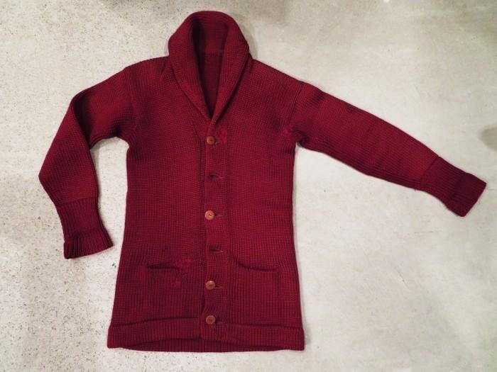 30\'s Shawl Collar Sweater Coat _e0187362_13430588.jpg