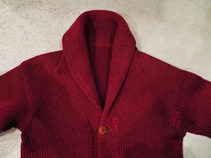 30\'s Shawl Collar Sweater Coat _e0187362_13433661.jpg
