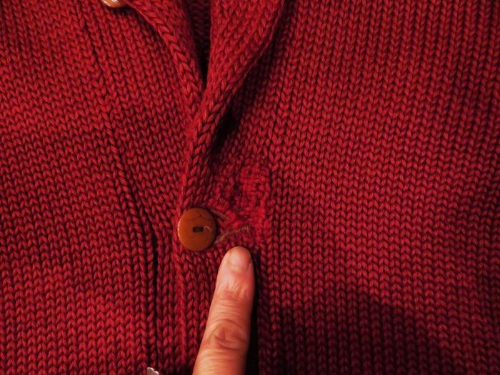 30\'s Shawl Collar Sweater Coat _e0187362_13500437.jpg