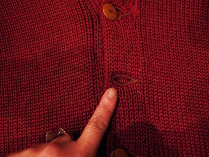 30\'s Shawl Collar Sweater Coat _e0187362_13503790.jpg
