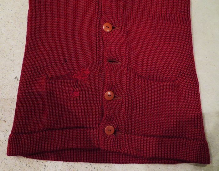 30\'s Shawl Collar Sweater Coat _e0187362_13505554.jpg