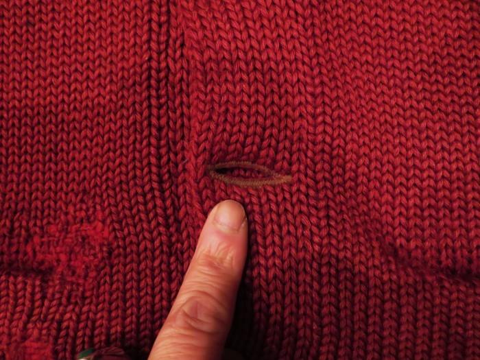 30\'s Shawl Collar Sweater Coat _e0187362_13511703.jpg