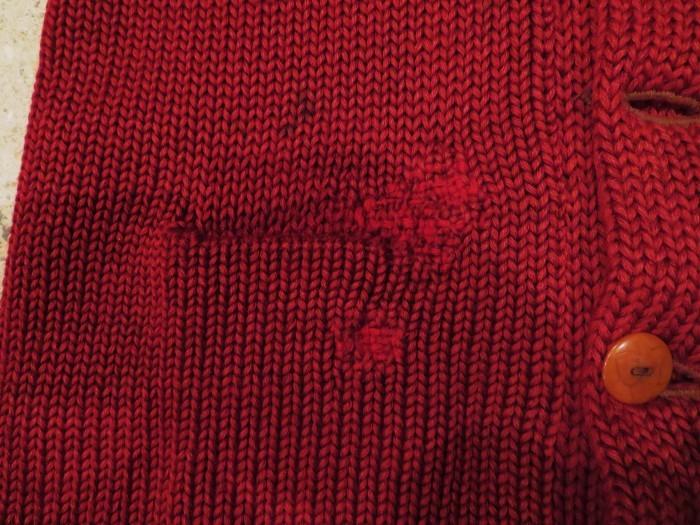 30\'s Shawl Collar Sweater Coat _e0187362_13513526.jpg