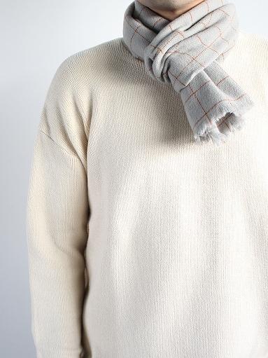 loomer Wool Cashmere Grid Muffler_b0139281_16381349.jpg