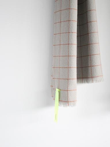 loomer Wool Cashmere Grid Muffler_b0139281_16391374.jpg