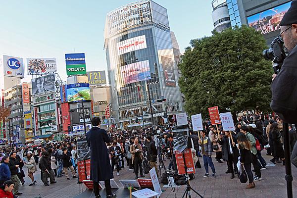 渋谷ハチ公前_a0188487_20095178.jpg