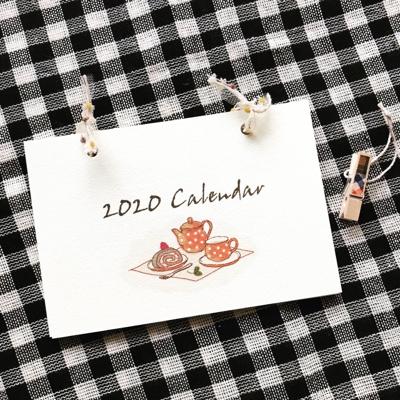 2020年のカレンダーです。_b0118498_20324502.jpg
