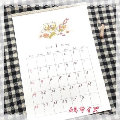 2020年のカレンダーです。_b0118498_20370600.jpg
