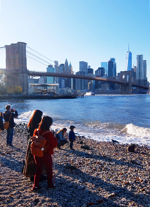 NY Brooklyn、夕暮れの人工海岸、ペブル・ビーチ(Pebble Beach)_b0007805_07542415.jpg