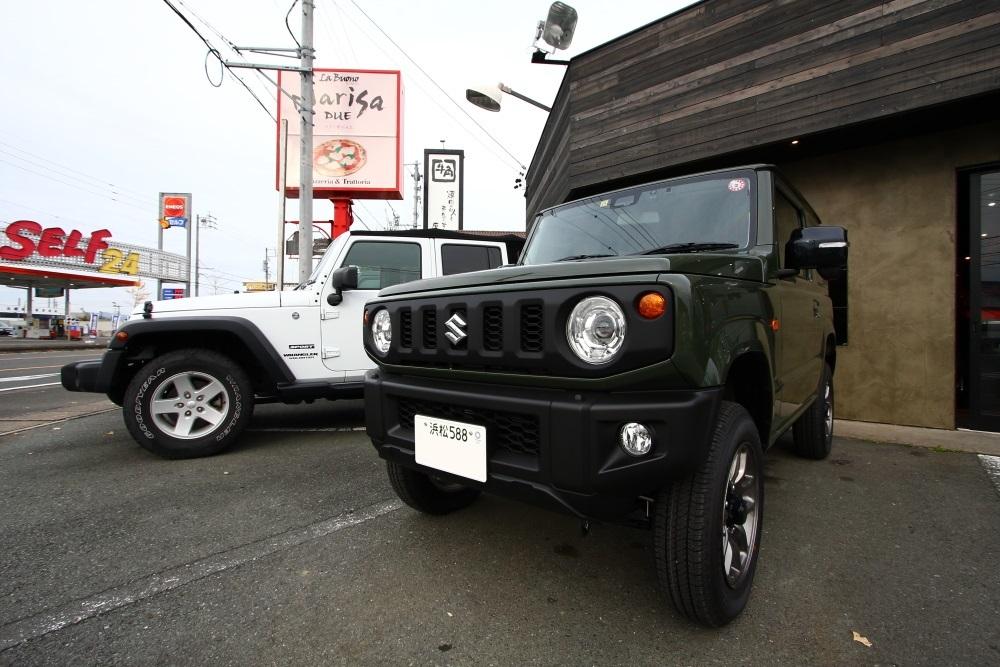 ジムニーご納車準備完了からホワイトTJも仮納車準備_f0105425_17184451.jpg