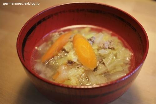 白菜と挽き肉のスープ_d0144726_20535982.jpg