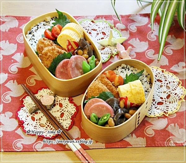 まぐろカツ弁当と甘い誘惑♪_f0348032_18191024.jpg