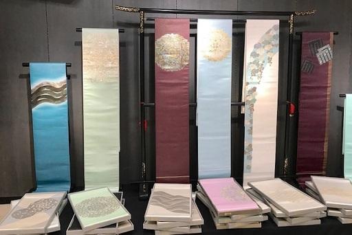 大秀華展・新しい色柄の袋帯・新作可愛いリスの名古屋帯。_f0181251_17503381.jpg