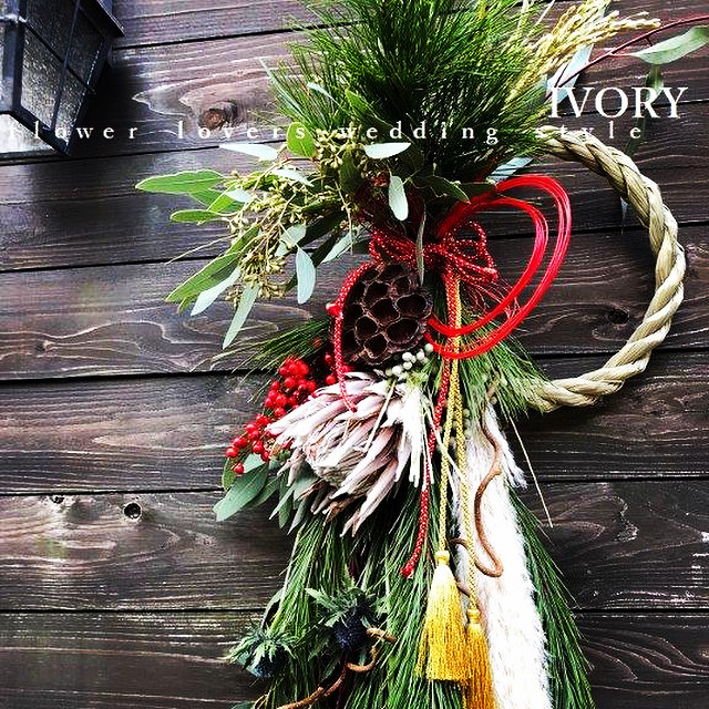 『〜IVORY お正月 花教室12 開催です~♬』_b0094378_17221299.jpeg