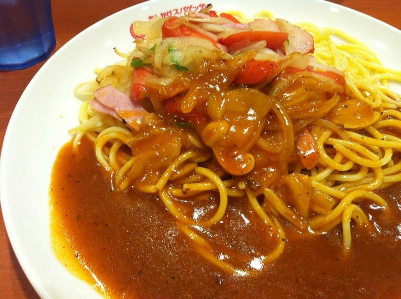 東京で食べる名古屋めし,あんかけスパゲッティ_b0206085_20200986.jpg