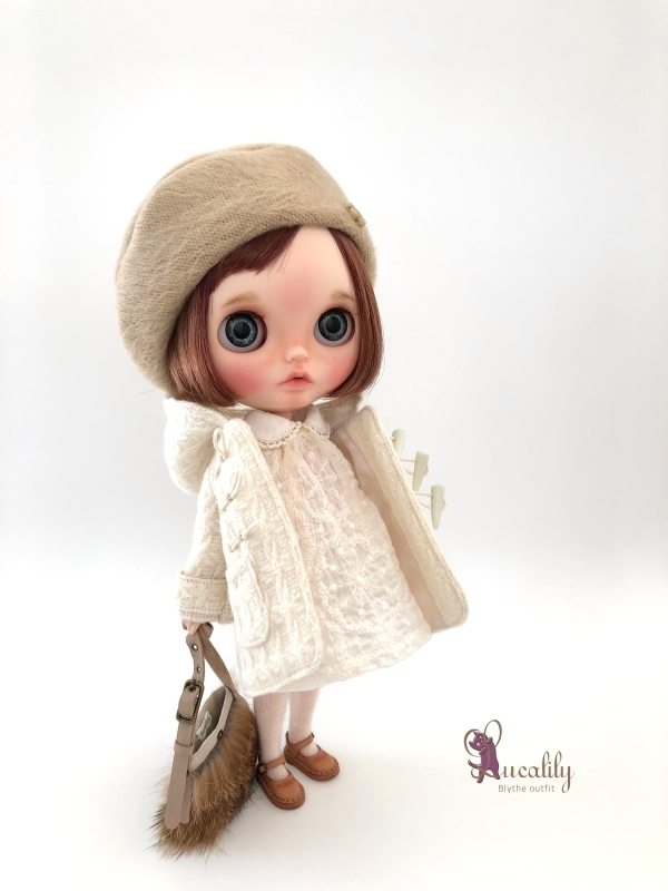 * lucalily * dolls clothes * White duffel coat set *_d0217189_12182775.jpg