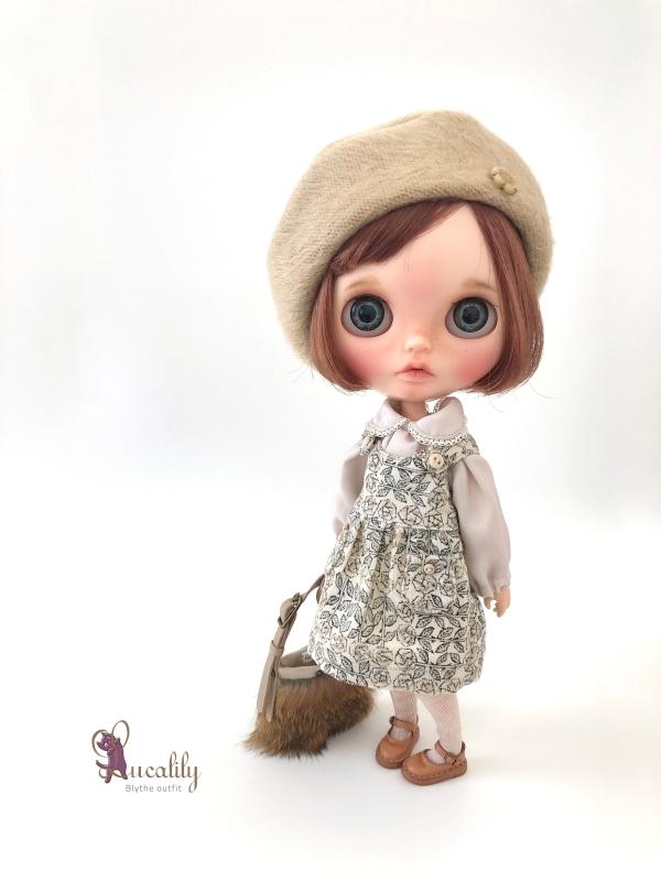 * lucalily * dolls clothes * White duffel coat set *_d0217189_12183200.jpg