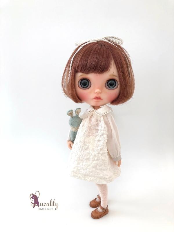 * lucalily * dolls clothes * White duffel coat set *_d0217189_12183586.jpg