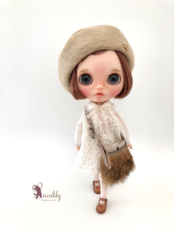 * lucalily * dolls clothes * White duffel coat set *_d0217189_12184377.jpg