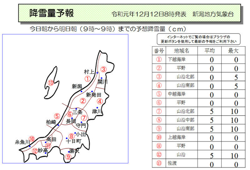 新潟県降雪量予報(2019年12月12日AM/PM) 夕方更新_e0037849_09070666.jpg