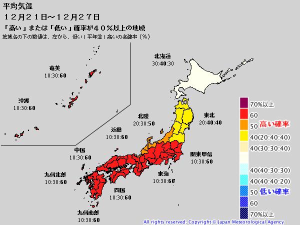 週間予報支援図+気象庁 1ヶ月予報(2019年12月12日発表)_e0037849_18203424.png
