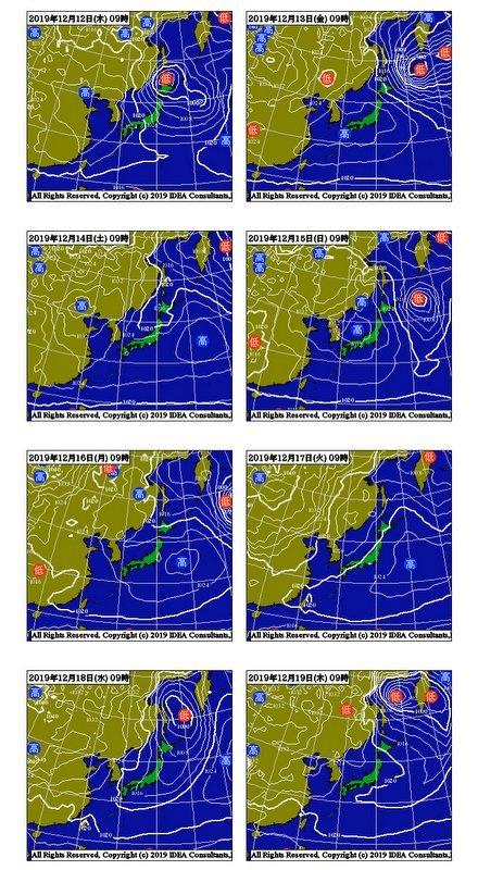 週間予報支援図+気象庁 1ヶ月予報(2019年12月12日発表)_e0037849_18275559.jpg