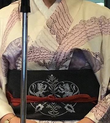 11周年・頂かれた染匹田の扇面の着物に孔雀や獅子の帯。_f0181251_18414801.jpg