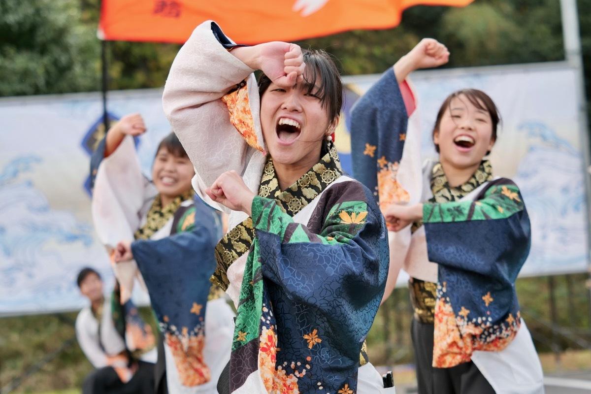 2018日原らっせによさこい祭りその23(よさこい橙蘭その2)_a0009554_23022450.jpg