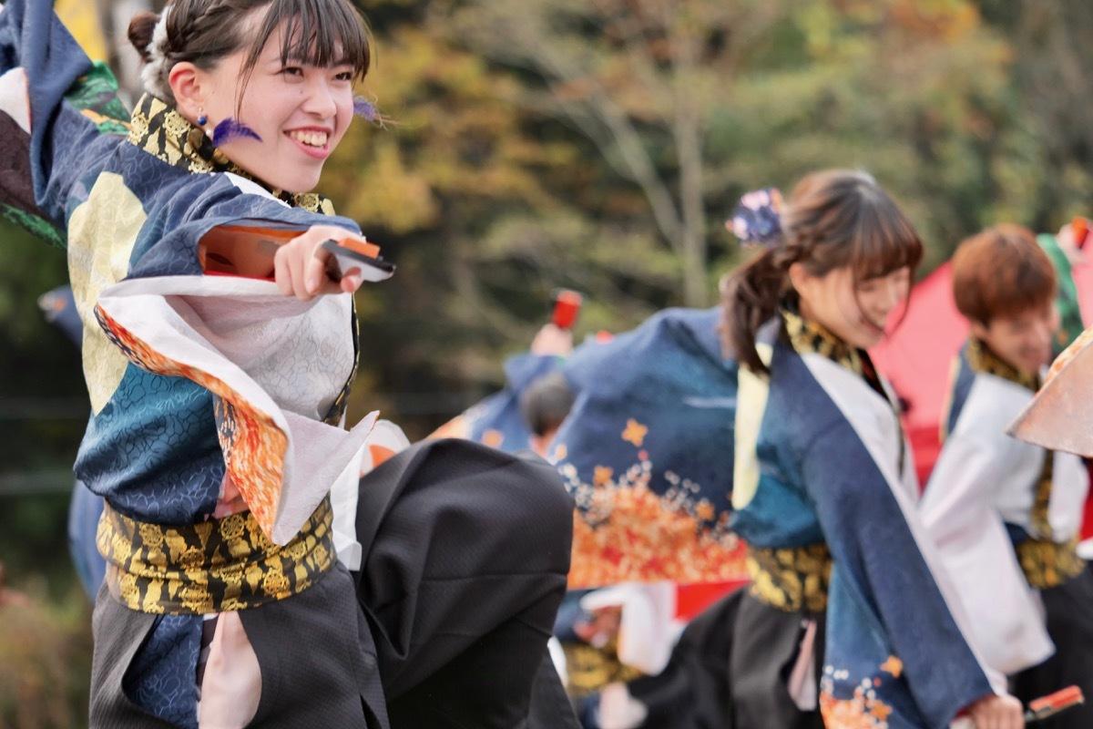 2018日原らっせによさこい祭りその23(よさこい橙蘭その2)_a0009554_23034716.jpg