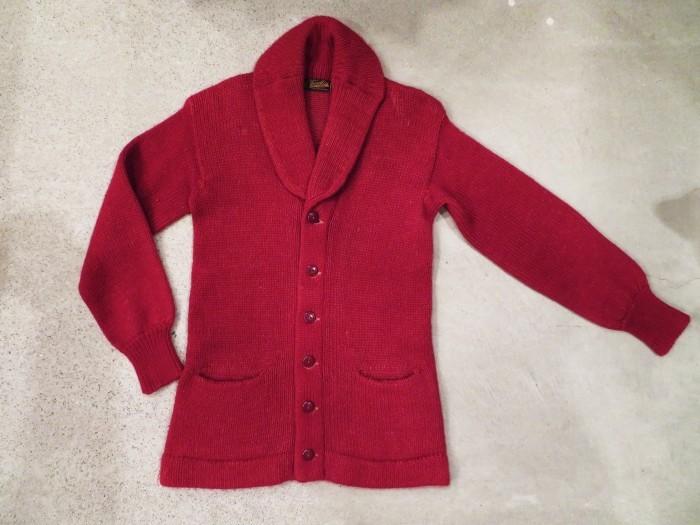 40\'s Shawl Collar Sweater Coat_e0187362_19373281.jpg