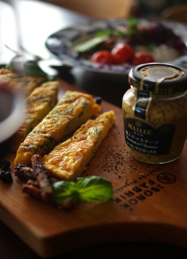 白菜のスパニッシュオムレツと牛ほほ肉カレー_d0327373_17143008.jpg